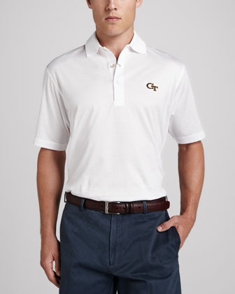 Georgia Tech Gameday College Shirt Polo, White