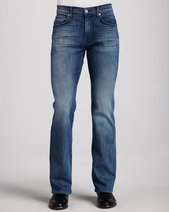 Luxe Performance: Brett Nakkitta Blue Jeans