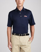 Ole Miss Gameday College Shirt Polo, Navy