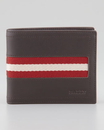 Web-Trim Leather Wallet, Brown