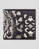 Skull & Lace-Print Bi-Fold Wallet