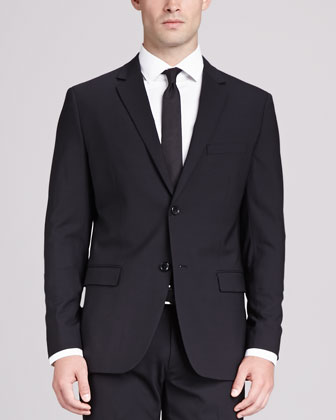 Wellar Wool Blazer, Black