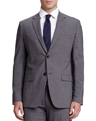 Weller Wool Blazer, Charcoal