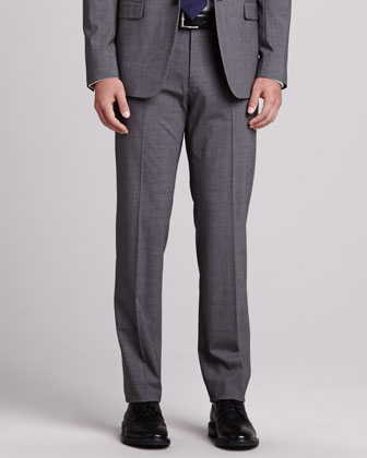 Kody Wool Pants, Charcoal