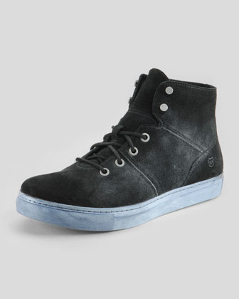 Mullberry High-Top Sneaker, Black