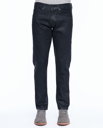 Tyler Narrow-Leg Jean, Coated Elixir