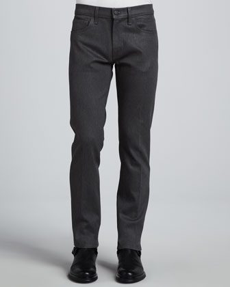 Kane Straight-Leg Jean, Gray Melange