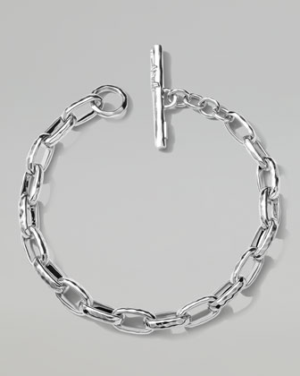 Men's Sterling Silver Thin Anchor Links Bracelet