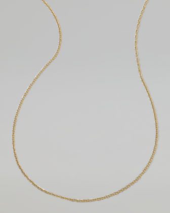 Men's 18K Gold Chain Necklace, 22