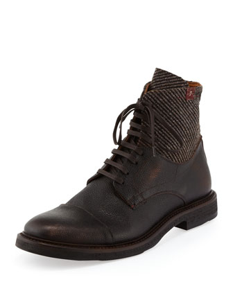 Sanford Tweed & Leather Boot