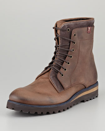 Niko Boot with Denim Welt, Brown
