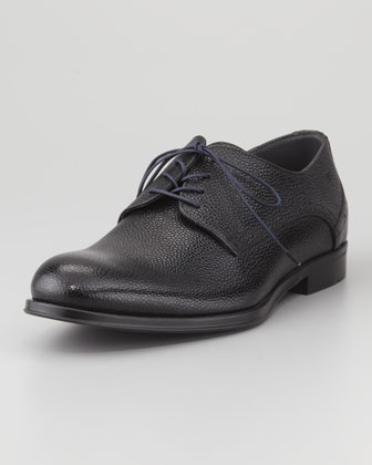 Shiny Pebbled Derby Shoe