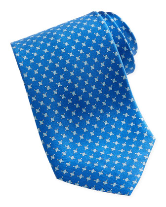 Spinning Top Silk Tie, Blue