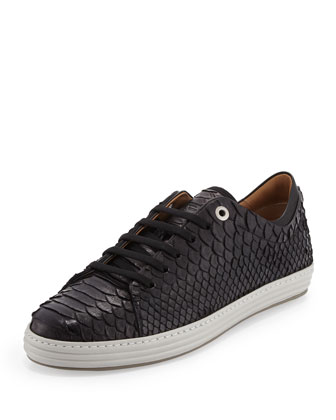 Riviera Men's Python Low-Top Sneaker