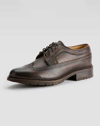 James Lug Wingtip, Dark Brown