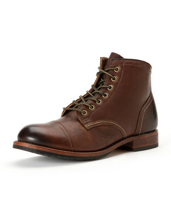 Logan Captoe Boot, Dark Brown