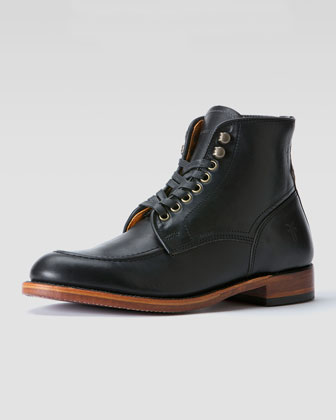 Walter Lace-Up Boot, Black