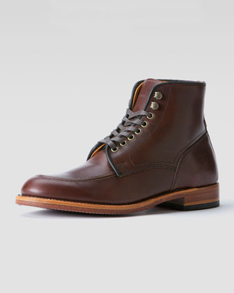 Walter Lace-Up Boot, Dark Brown