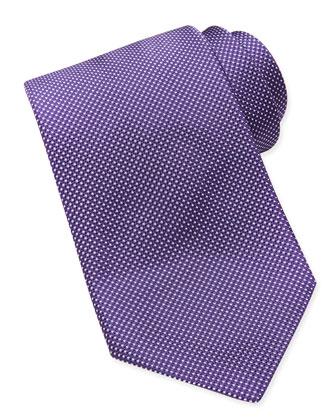 Woven Tonal-Pindot Tie, Purple