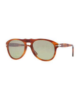 Retro Keyhole Round Sunglasses, Terra Di Siena