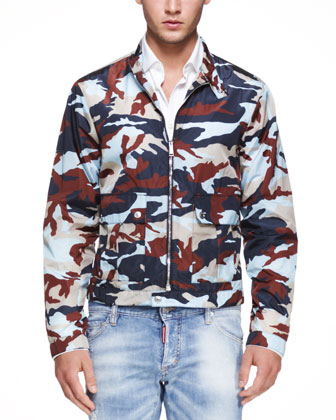 Lightweight Camouflage Jacket, Blue