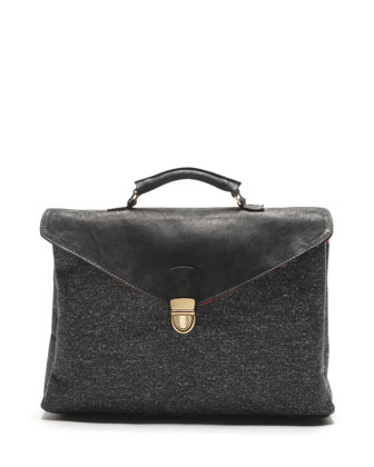 Chicago Tweed Briefcase, Gray