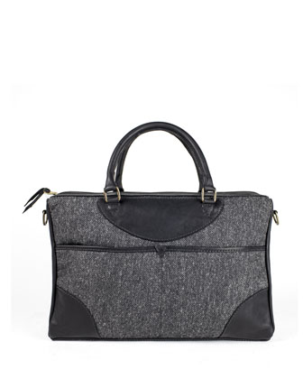 New York Tweed Briefcase, Gray