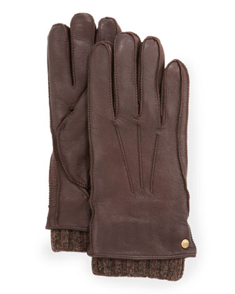 Men's 2-in-1 Whipstitch Gloves, Brown