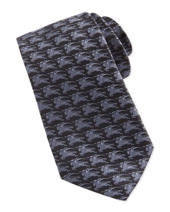 Knight Jacquard Tie, Gray