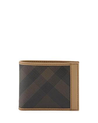 Bordered Check Hip-Fold Wallet