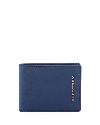 London Pebbled Bi-Fold Wallet