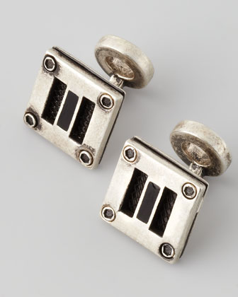 Amp Sterling Silver Cuff Links