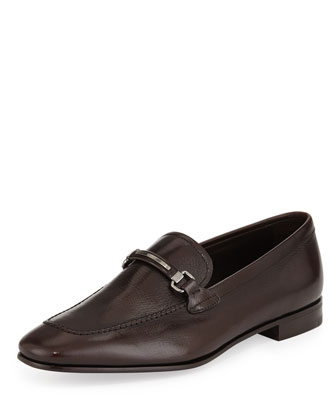 Textured-Goatskin Bit Loafer