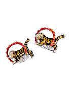 Tiger & Flame Hoop Cuff Links