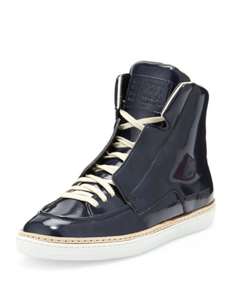 College Patent Leather High-Top, Blue