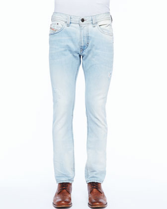 Thavar Bleach-Wash Jean, Light Blue