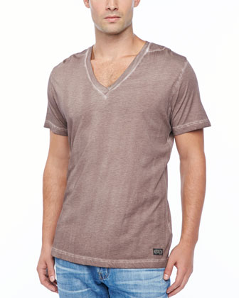 T-GTN V-Neck T-Shirt, Dark Salmon