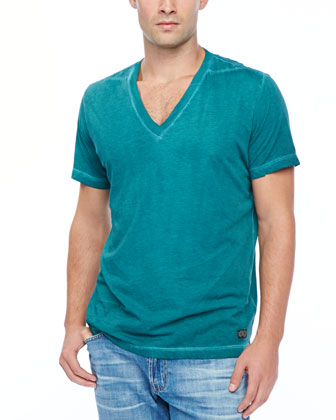 T-GTN V-Neck T-Shirt, Emerald