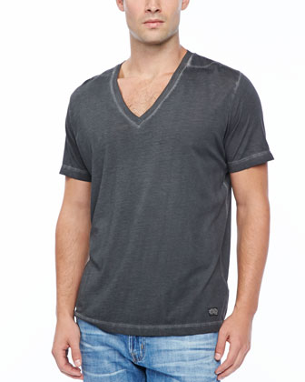 T-GTN V-Neck T-Shirt, Black