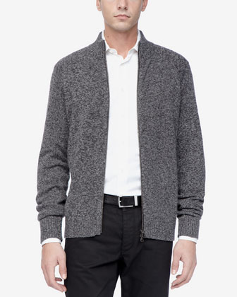 Zip Sweater, Charcoal Multi