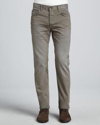 Denim Five-Pocket Jeans, Gray