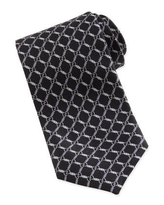 GG Pattern Tie, Black