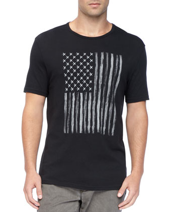 Stars-and-Stripes Tee, Black