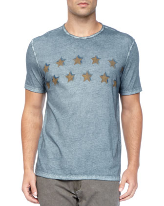 Wishing Stars Tee, Blue Marble