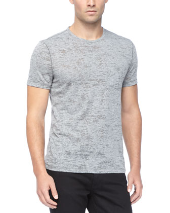 Crewneck Tee, Heather Gray