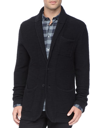 Shawl Collar Jacket, Black