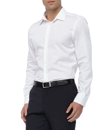 Basic Long-Sleeve Shirt, White