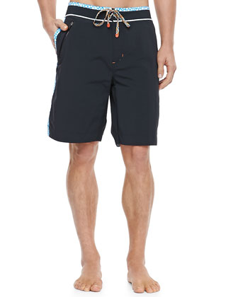 Decker Board Shorts, Black