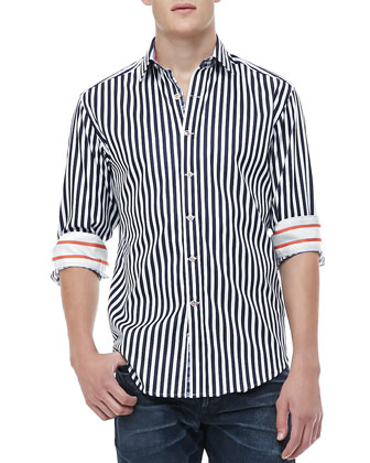 Balik Striped Shirt, White/Blue