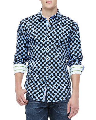 Tucker Geometric Print Shirt, Multi